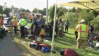 News video: Raw: Two Dead, 49 Injured in Del. Bus Crash