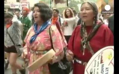 News video: Protesters demand action on climate change ahead of major summit